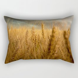 Harvest Time - Golden Wheat in Colorado Field Rectangular Pillow