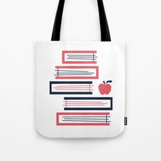 Stacked Books Tote Bag