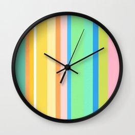 Springtime Stripes Wall Clock
