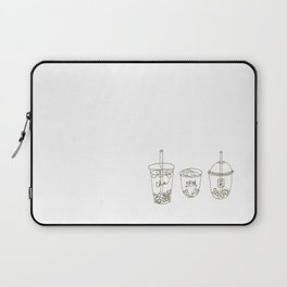 One-line BBT Boba Bubble Tea Laptop Sleeve