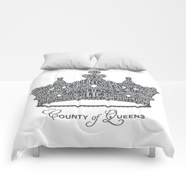 County of Queens | NYC Borough Crown (GREY) Comforters