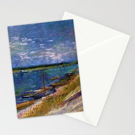 Moored Boats Côte d'Azur by Vincent van Gogh Stationery Cards