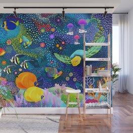 Ocean Tropical Fish Life Wall Mural