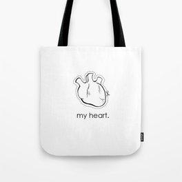my heart. Tote Bag