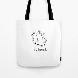 my heart. Tote Bag