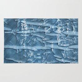 Dark slate blue nebulous watercolor texture Rug
