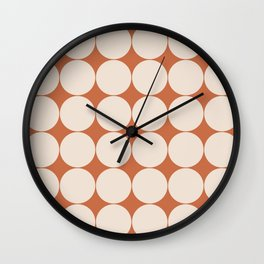 Circular Minimalism - Orange Wall Clock