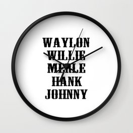 The Country Legend Wall Clock