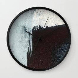 Like A Gentle Hurricane [3]: a minimal, abstract piece in blues and white by Alyssa Hamilton Art Wall Clock