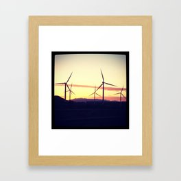 Wind Farms Framed Art Print