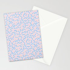 Peach blue signs Stationery Cards