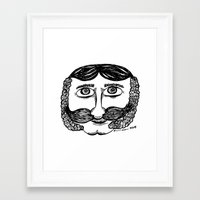 larry Framed Art Prints featuring Larry by Addison Karl
