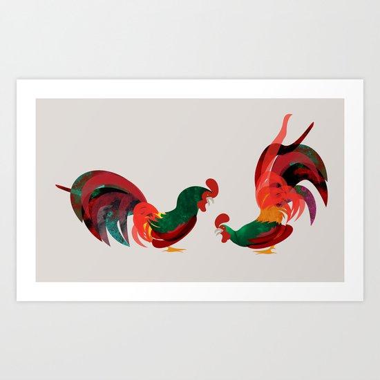 squabble Art Print