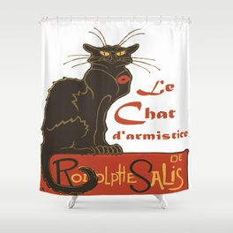 Tournee du Chat Noir D'Armistice Tribute Vector Shower Curtain