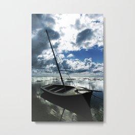 Morning Boat Metal Print