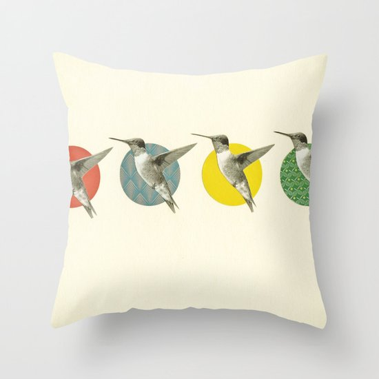 The Hummingbird Dance Throw Pillow