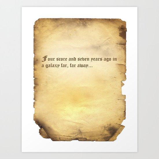Four Score (Star Wars) Parchment Art Print