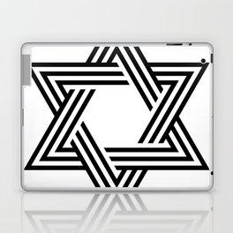 Six Stripe Hexagram Black and White Laptop & iPad Skin