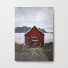 Red Cabin Metal Print