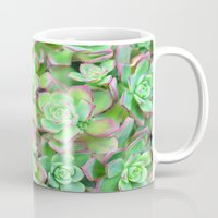 succulents Mugs featuring Succulents  by Lisa Argyropoulos