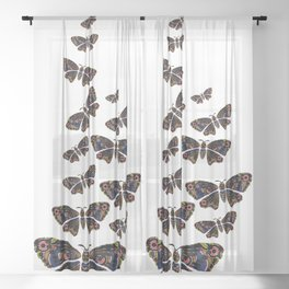Authentic Aboriginal Art - Butterflies Sheer Curtain