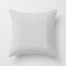 Stitch Weave Geometric Pattern in Grey Throw Pillow