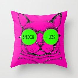 SPEECHLESS cat Throw Pillow