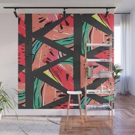 Black Watermelon Pattern Wall Mural