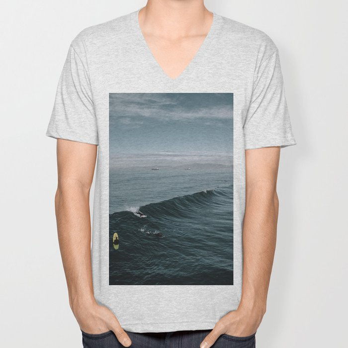 Summer Surf Session Unisex V-Neck