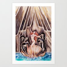 Lady Botticelli  Art Print
