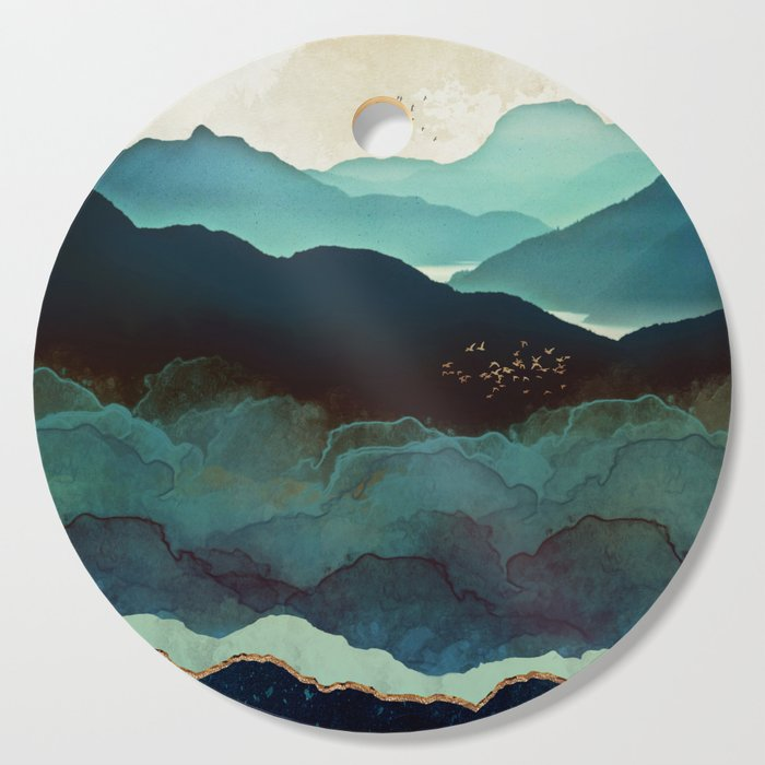 Indigo Mountains Cutting Board