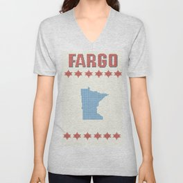 Fargo Cross Stitch Unisex V-Neck