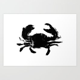 Oil and Wildlife Don't Mix - Crab Art Print