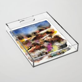 Abstract Tuscan Landscape Acrylic Tray