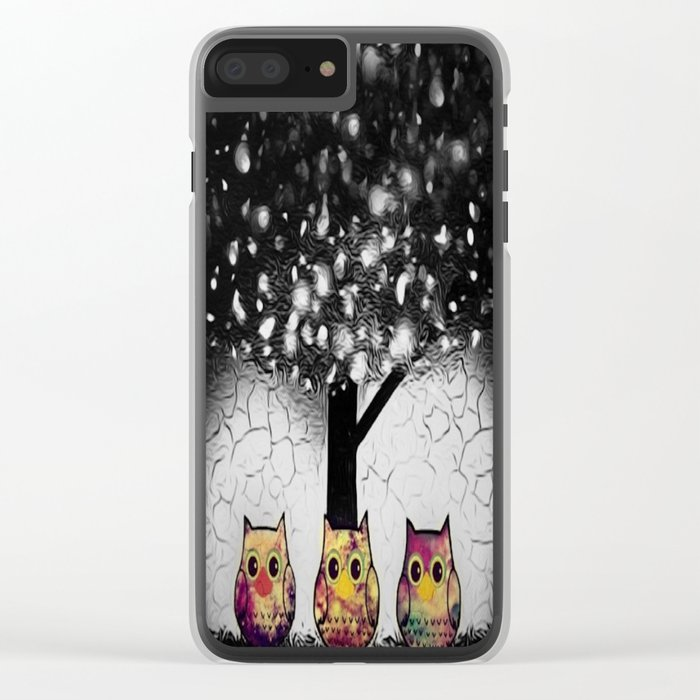owl-52 Clear iPhone Case