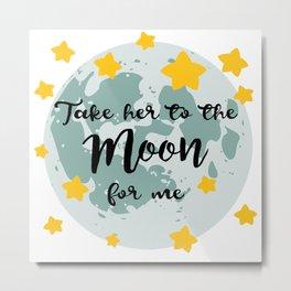 Bing Bong Moon Metal Print