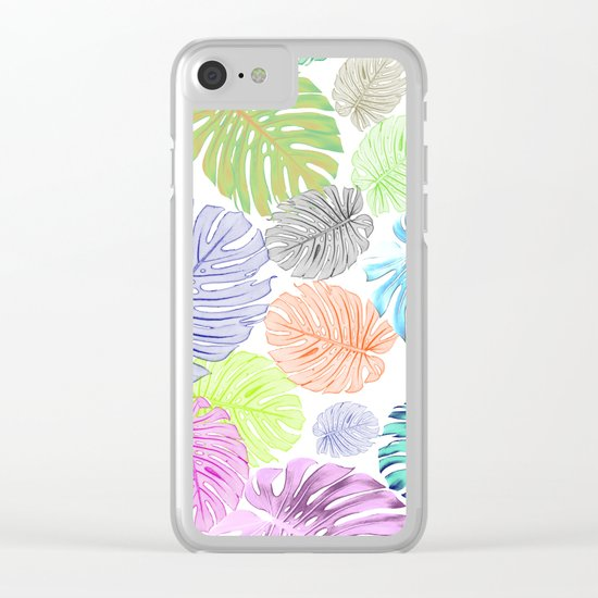 Tropical abstract Clear iPhone Case