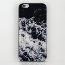 OCEAN - WAVES - SEA - ROCKS - DARK - WATER iPhone Skin