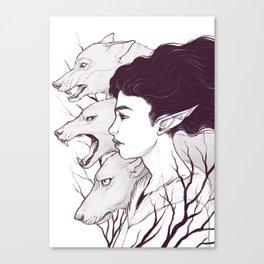 Wolf Witch - Wolf Spirit Animal Canvas Print