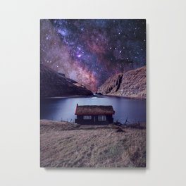 Lonely house on another planet Metal Print