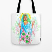 nicki Tote Bags featuring Virgin Mary (Jane) by AnnaToman