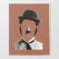 charlie chaplin Canvas Prints featuring Charlie Chaplin by  by albasemmlergonzález