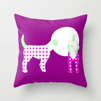 puppies Throw Pillows featuring Puppies by Silja Rouvinen