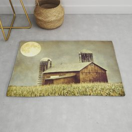 Midsummers Night Rustic Barn Rug