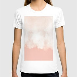 Cotton candy in beige pink T-shirt