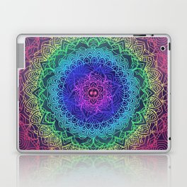 Trippy Mandala Design and Rainbow Laptop & iPad Skin