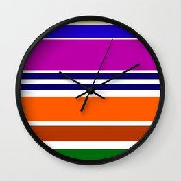 Warm Color Rhythm Wall Clock