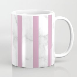 marble vertical stripe pattern baby pink Coffee Mug