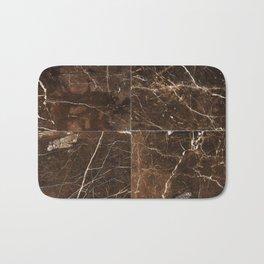 Brown Granite Squares Bath Mat