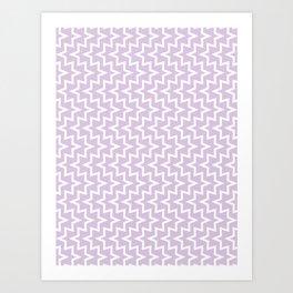 Sea Urchin - Light Purple & White #922 Art Print